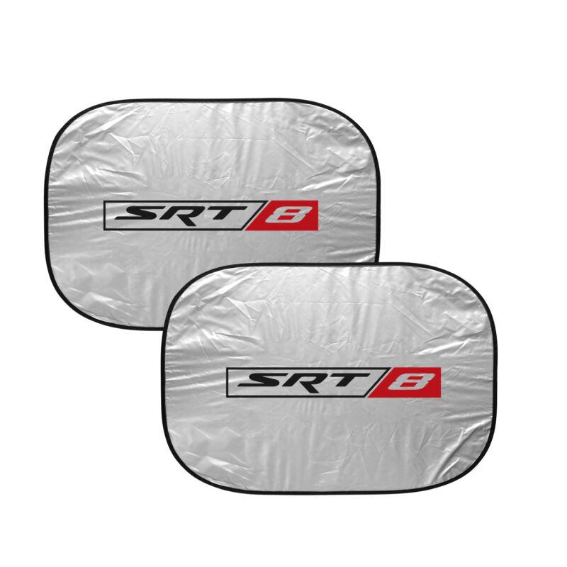 "SRT-8 Logo Dual Panels 2-28"" x 24"" Folding Windshield Sun Shade for Dodge Jeep"