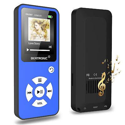 BERTRONIC MP3 Player Made in Germany BC01 - Blau - 100h - mit Radio Farbdisplay