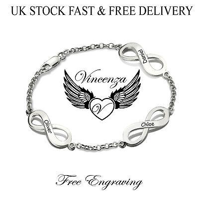 inity Anhänger Graviert Name Silberarmband Vincenza Geschenk (Personalisierte Infinity Armband)