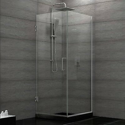 "DREAMLINE 30"" X 30"" UNIDOOR Added 3/8"" GLASS FRAMELESS CORNER SHOWER ENCLOSURE"