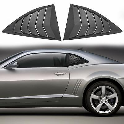 2pcs ABS Quarter Side Window Scoop Louvers Cover Vent for 2010-2015 Chevy Camaro