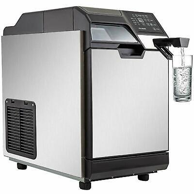 50kg24h Ice Maker With Cool Water Dispenser 110lb Ice Making Machine Water Tank