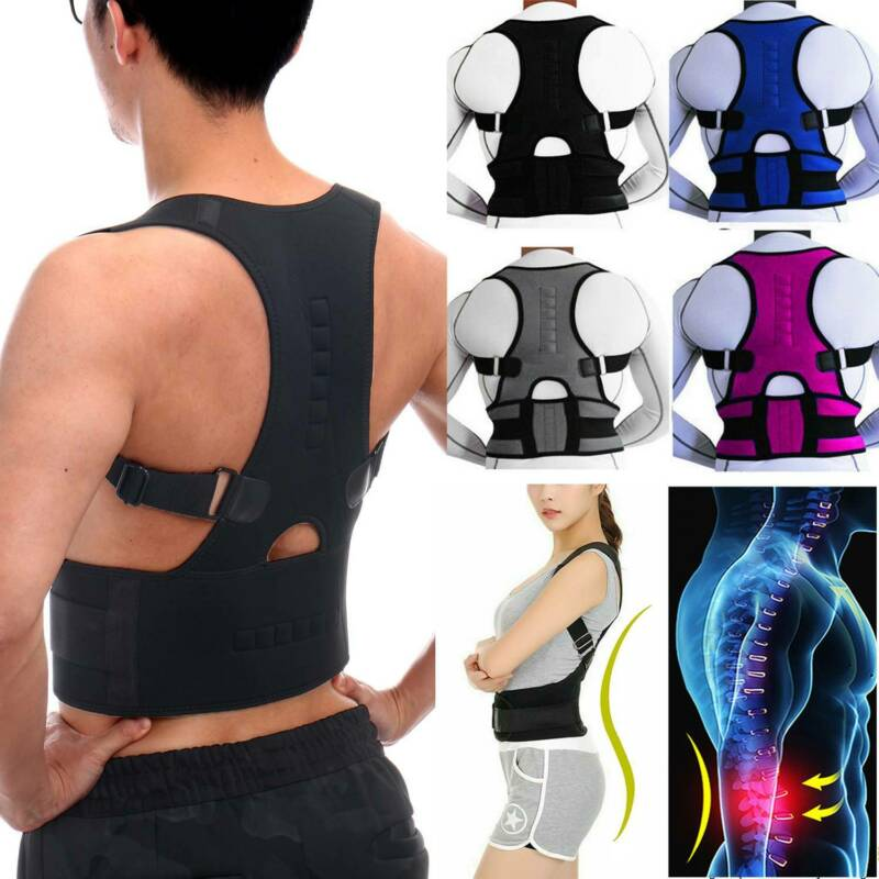 Magnetic Therapy Posture Corrector Waist Pain Relief Brace B