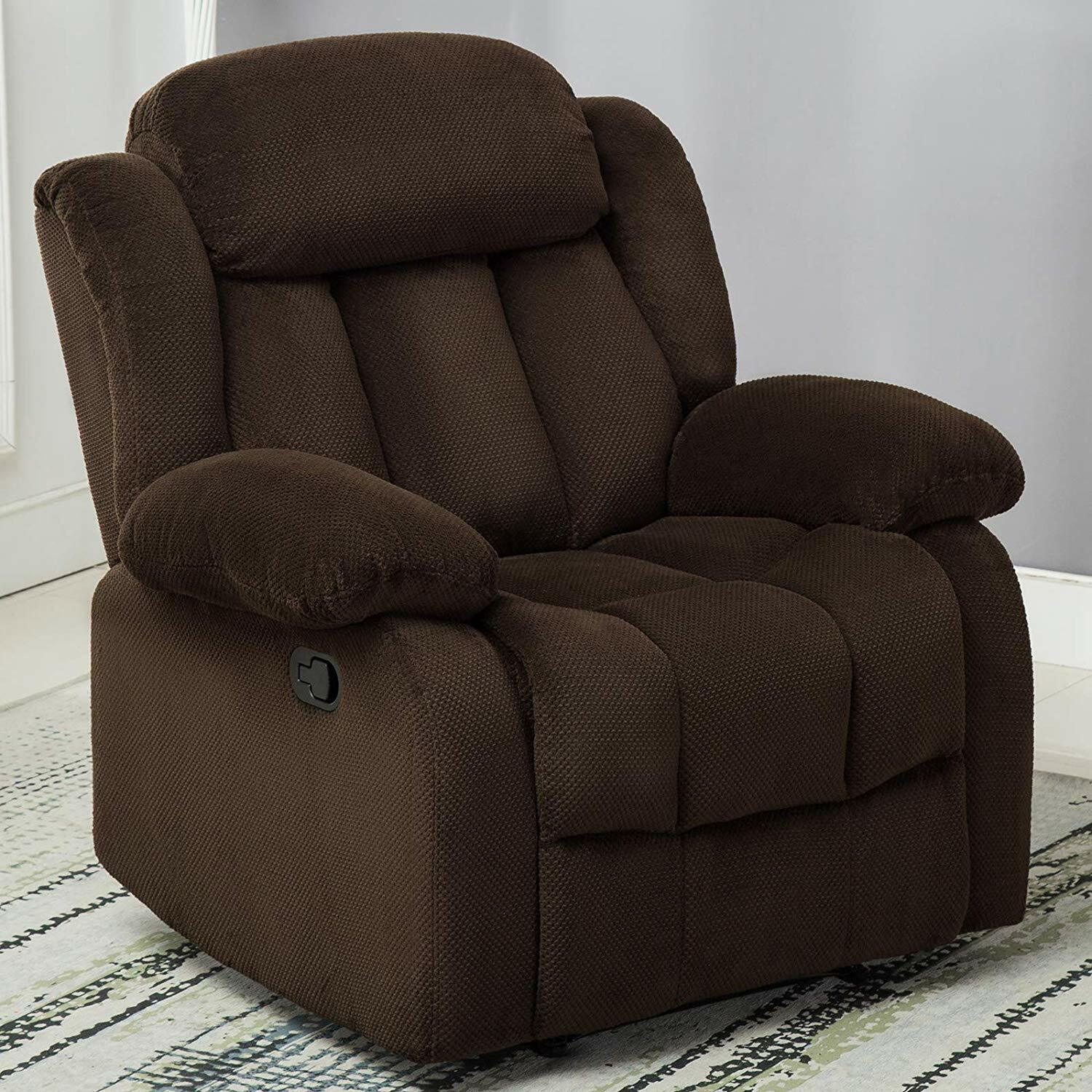 Manual Recliner Chair Living Room Lounge Oversized Chair Bro