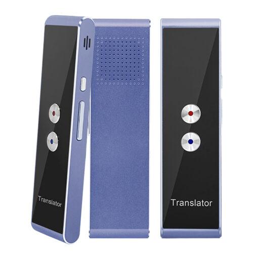 Smart Instant Language Translator Device Portable Language Translator-Blue