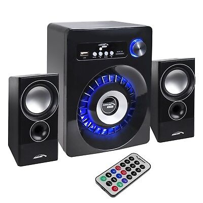PC Bluetooth Speakers 2.1 Stereo Remote Subwoofer Clear Sound USB SD FM...