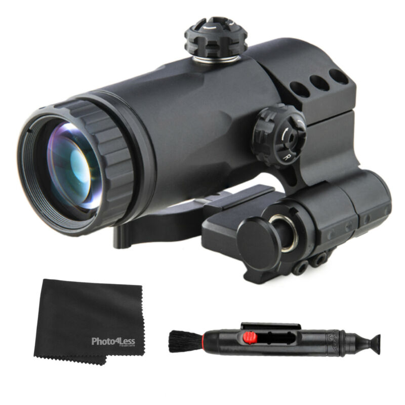 MEPROLIGHT Magnifier for Sights with Side Flip Adaptor + Lens Kit & Cloth