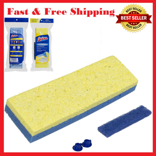 Quickie Type S Mop Refill Clean Squeeze Sponge Fits 045-4 045ON 045HPM Mops Blue