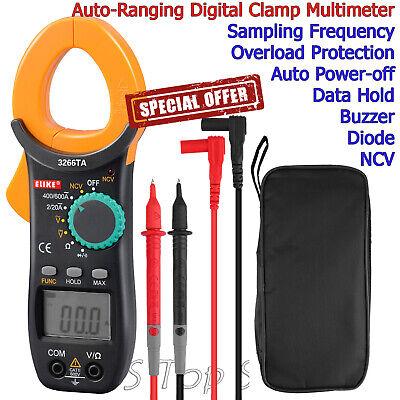 Digital Clamp Meter Tester Acdc Volt Amp Multimeter Auto Ranging Current 600v