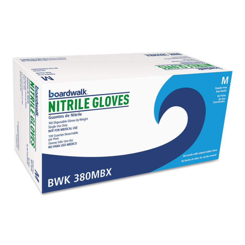Boardwalk Disposable General-Purpose Nitrile Gloves Medium Blue 4 mil 1000