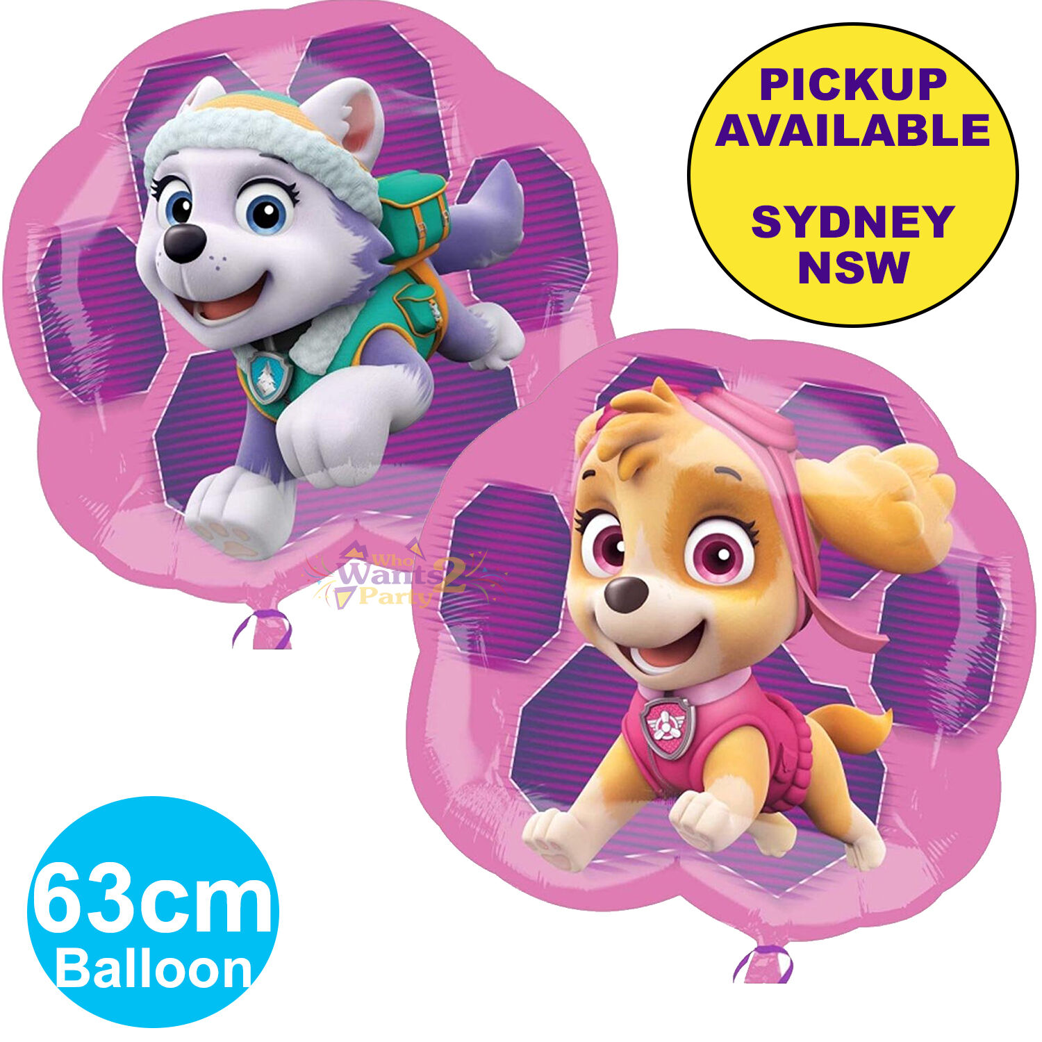 PAW PATROL PINK GIRLS PARTY SUPPLIES BALLOON SKYE EVEREST BIRTHDAY DECORATIONS