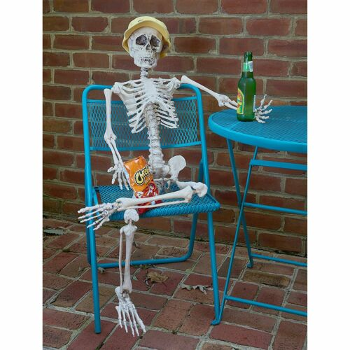 Full Body Tall Halloween Skeleton, Movable/Posable Joints Halloween Decoration