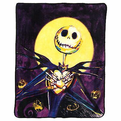 """Nightmare Before Christmas Pumpkin Delight 46"""" x 60"""" Fleece Throw Blanket"""