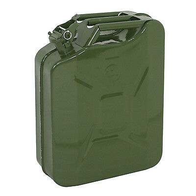 Set Of 2 Jerry Can 5 Gallon 20l Gas Fuel Steel Tank Emergency Backup Durable