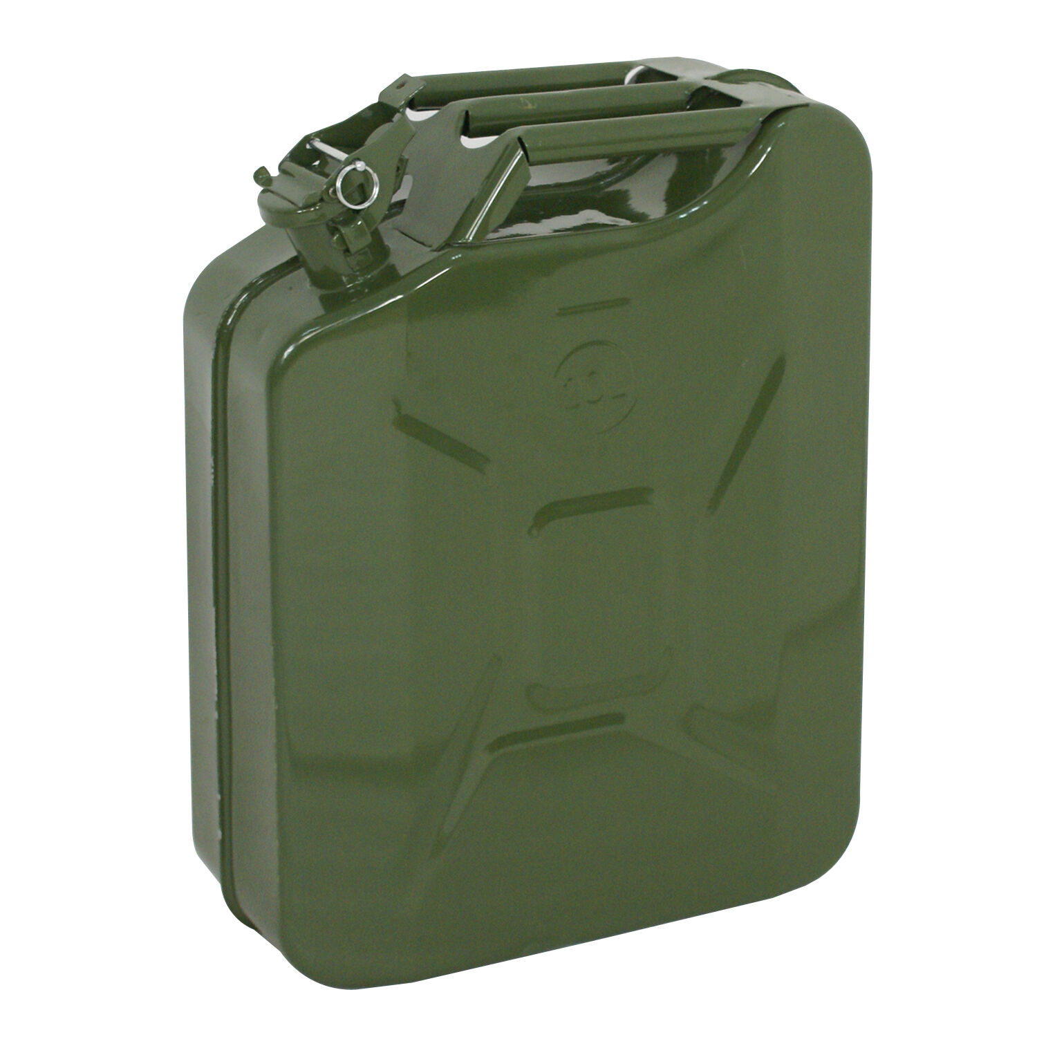 Green Jerry Can Gasoline Fuel Can Steel Tank 5 Gallon 20L Emergency Backup Business & Industrial