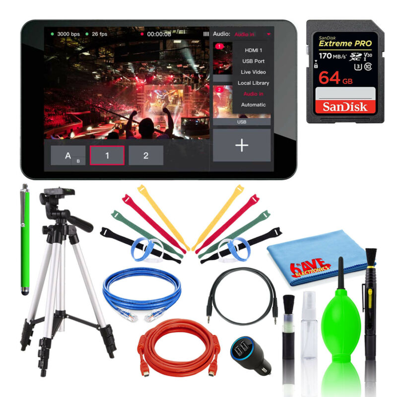 YoloLiv YoloBox Portable Live Streaming Studio with SanDisk 64GB PRO SD Card