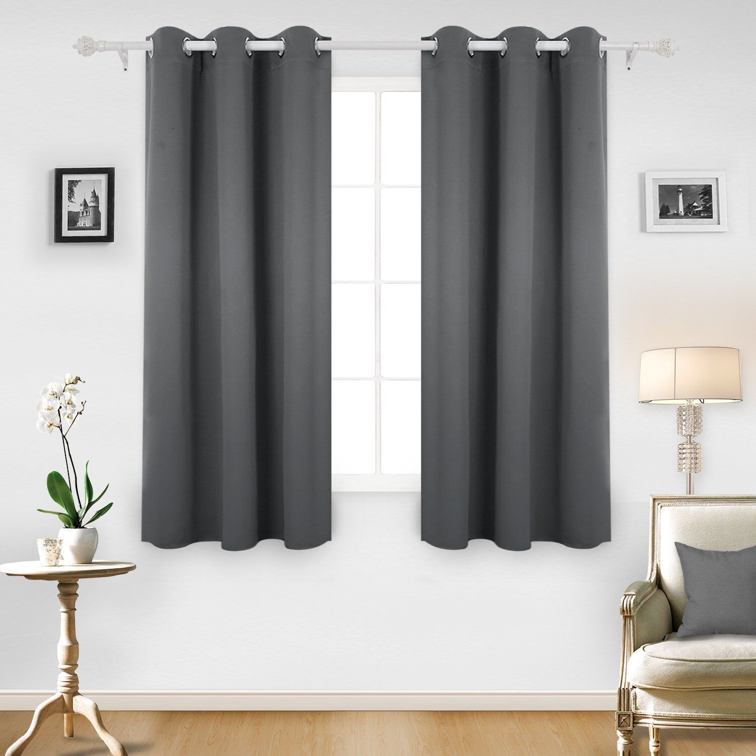 Thermal Insulated Blackout Grommet Window Curtain for Living