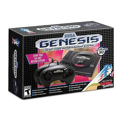 NEW Sega Genesis Mini 16-bit Video Entertainment System 40 Legendary Games