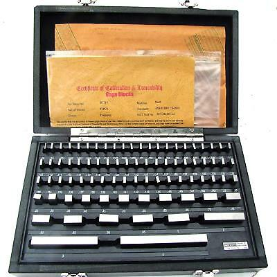 Hfsr 81pcs Grade B Gage Gauge Block Set Usa Cert Nist Traceable New