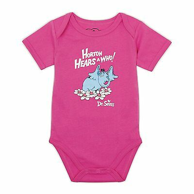Bumkins Baby Girls' Dr. Seuss by Bumkins Short Sleeve Bodysuit 3 (Dr Seuss Short Sleeve Bodysuit)