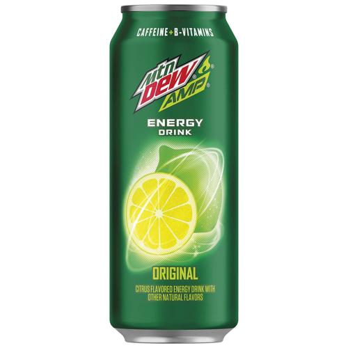 Amp Energy, Original, Caffeine, B Vitamins, 16 Fl Oz. Cans 12 Pack
