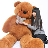 "Joyfay® 91"" 230cm Giant Teddy Bear Huge Brown Plush Toy Valentines Gift"