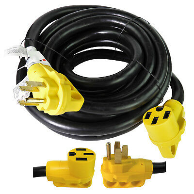 30 Foot 50 Amp RV Extension Power Cord 100% Copper Wires Trailer Motorhome New