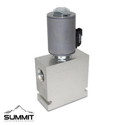 Hydraulic Selector Diverter Valve 3-way 12 Sae Ports 16 Gpm 12v Dc 3500psi