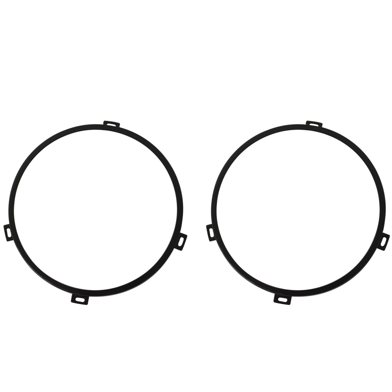 7 u0026quot  black round iron headlight mounting bracket rings for