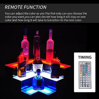 Corner Liquor Bottle Display Shelf 20 3 Layer Led Lighted Color Changing Wrc