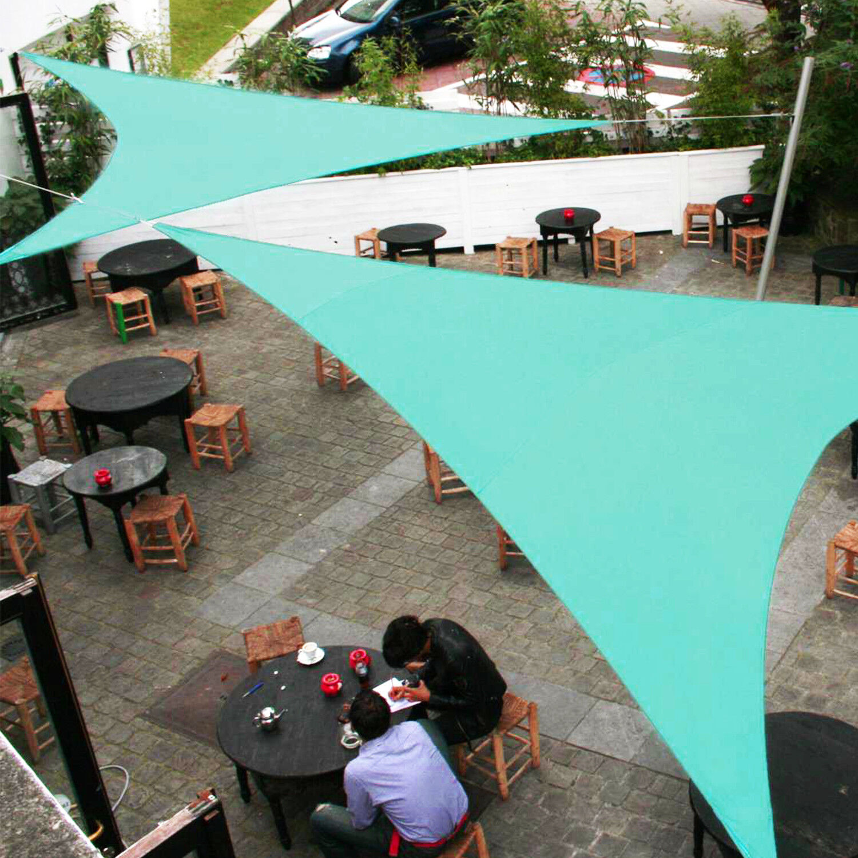 Custom Turquoise Equal Triangle 5 28ft Sun Shade Sail Patio Yard Pool Pergola Ebay