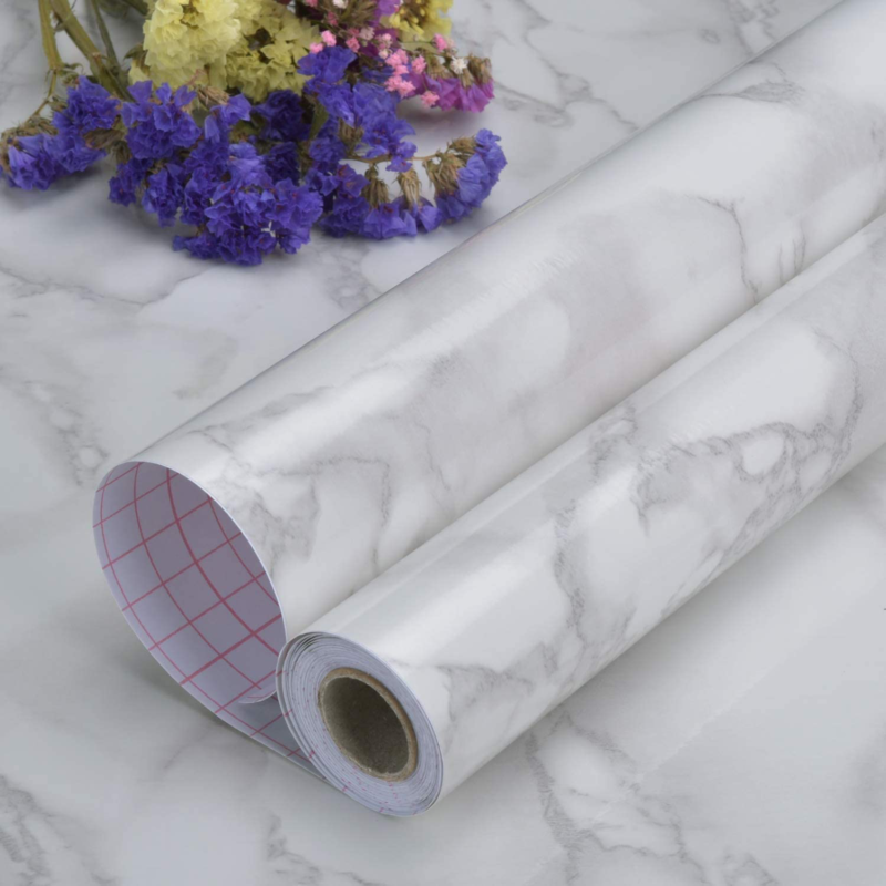Marble Contact Paper Countertop Self Adhesive Shelf Drawer L