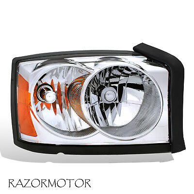 2005-2007 Replacement Passenger Side Headlight For Dodge Dakota W/Bulb + Socket Dakota Passenger Side Headlamp