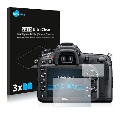 6x Displayschutzfolie für Nikon D7100 Schutzfolie Klar Folie Displayfolie