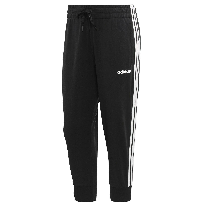 e7a54162258e7a adidas Damen Hose 3 4 Pant 3 Streifen Jogginghose Trainingshose Sport  schwarz