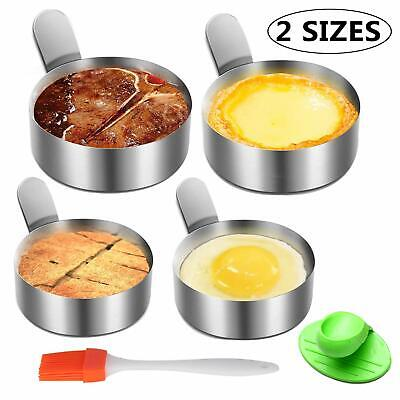 Stainless Steel Egg Frying Ring Mold Non-Stick, Oven Glove, and Silicone Brush