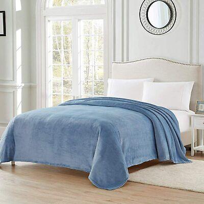 "Blanket Throw Lightweight Cozy Plush Solid Fleece Blanket,Blue, 50""×60"""