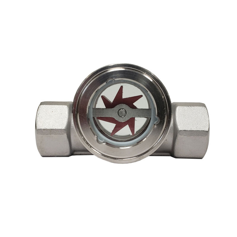 "Sight Flow Indicator by PRM 1/4"" FNPT 304 Stainless Steel PTFE Seal and Impeller"