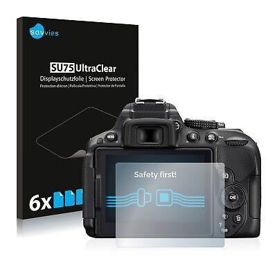 6x Displayschutzfolie für Nikon D5300 Schutzfolie Klar Folie Displayfolie