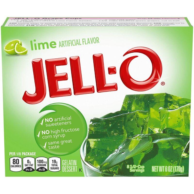 JELL-O Lime Gelatin Dessert Mix, 6 Ounce