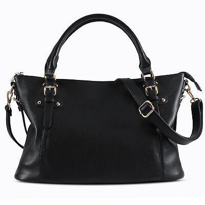 Ladies Fashion Ladies Large Tote Bag for Women Faux Leather Laptop Handbag ()