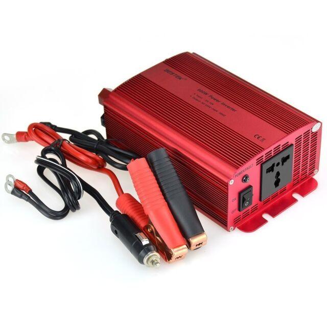 BESTEK 600W Car Power Inverter DC 12V to 230V AC Converter with Electrical Ou...