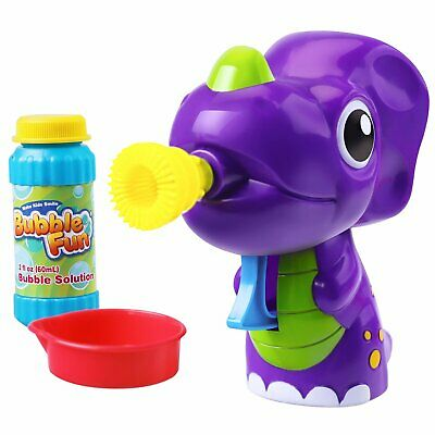 Kids Outdoor Bubble Machine Shooter Purple Dinosaur Gun Toy Bubble Blower Set - Dinosaur Bubble Gun