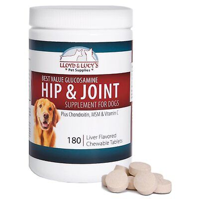 Best Value Glucosamine for Dogs Hip and Joint Supplement wit