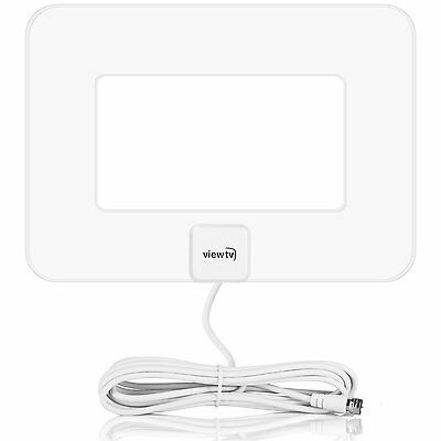 Viewtv Vt 9047E Flat Amplified Hd Digital Tv Antenna 80 Mile Range White