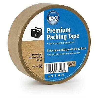 Ipg 9341 Kraft Paper Flatback Premium Packing Tape 1.88 X 60 Yd Brown Si...