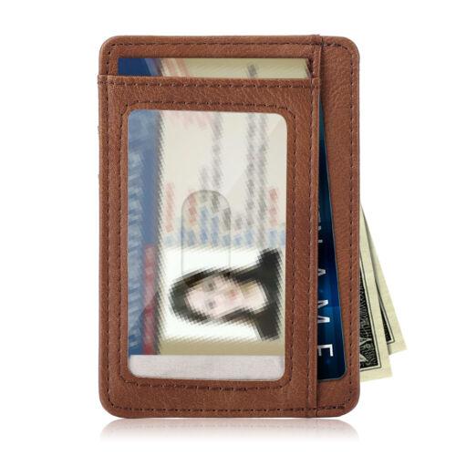 Front Pocket Wallet Leather RFID Blocking ID Slim Credit Card Holder Men & Women