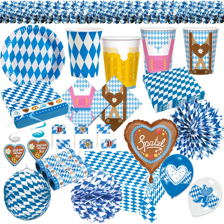 Oktoberfest Wiesn Bayrisch Blau Party Raute Dekoration Bayern Bavaria blau weiss