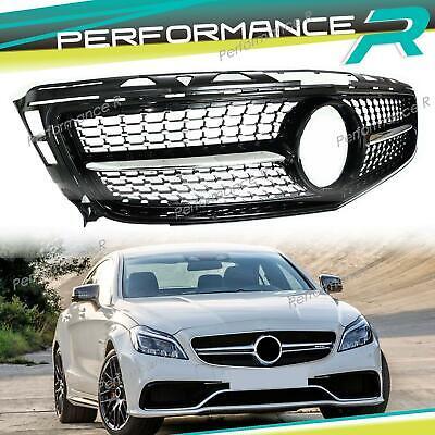 Front Grill Schwarz Diamant Kühlergrill für Mercedes CLS W218 vor Facelift 11-14