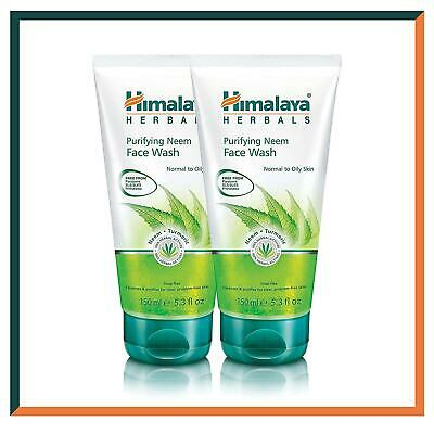 HIMALAYA Purifying Neem Face Wash Gel | Cleanses Pores & Acne | 150g * 2 Pack